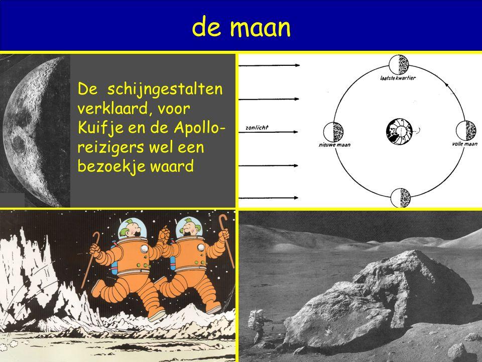 de maan De schijngestalten verklaard, voor Kuifje en de Apollo- reizigers wel een bezoekje waard