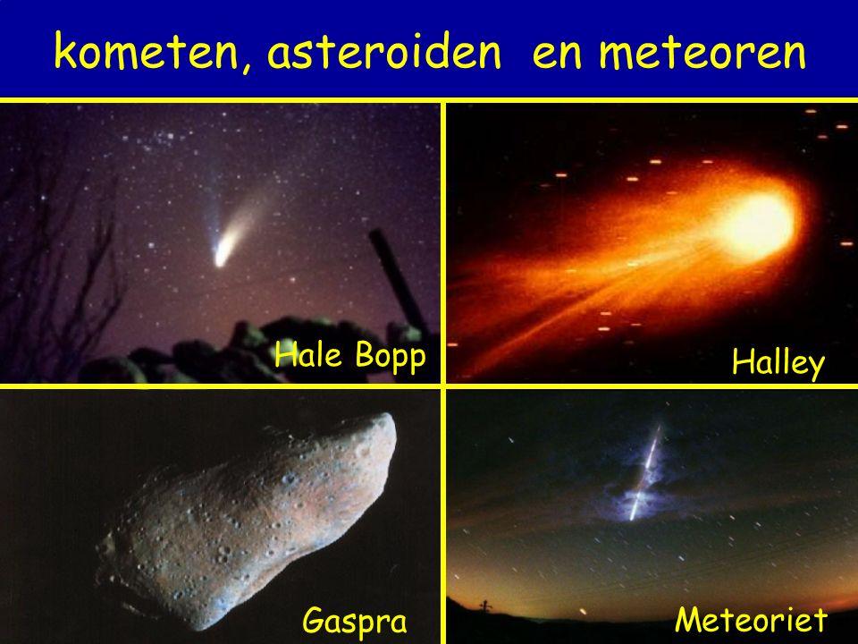 kometen, asteroiden en meteoren Halley Hale Bopp GaspraMeteoriet