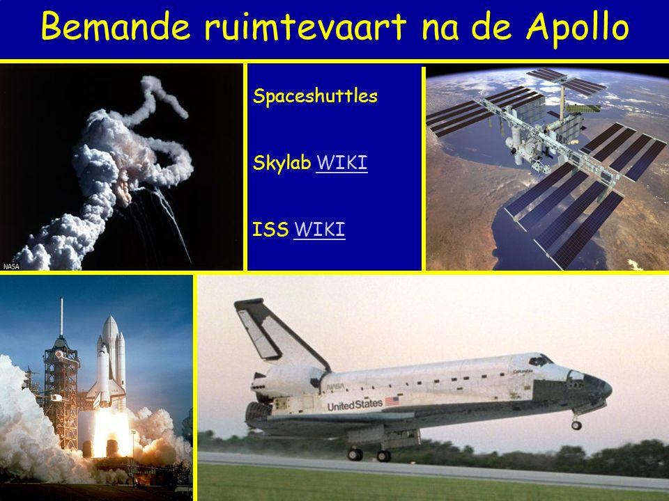 Bemande ruimtevaart na de Apollo Spaceshuttles Skylab WIKIWIKI ISS WIKIWIKI