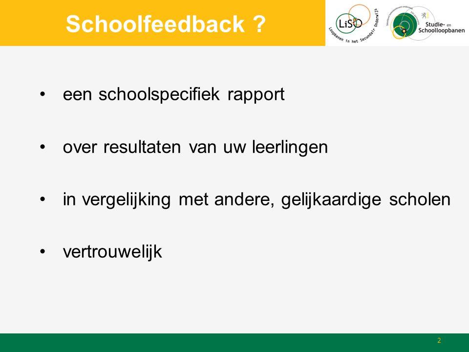 Opmerkingen & vragen Opmerkingen, suggesties en vragen? 13 www.schoolfeedback.bewww.lisoproject.be