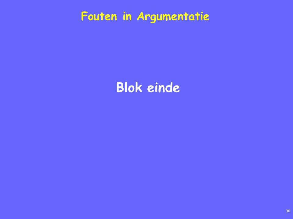 30 Fouten in Argumentatie Blok einde