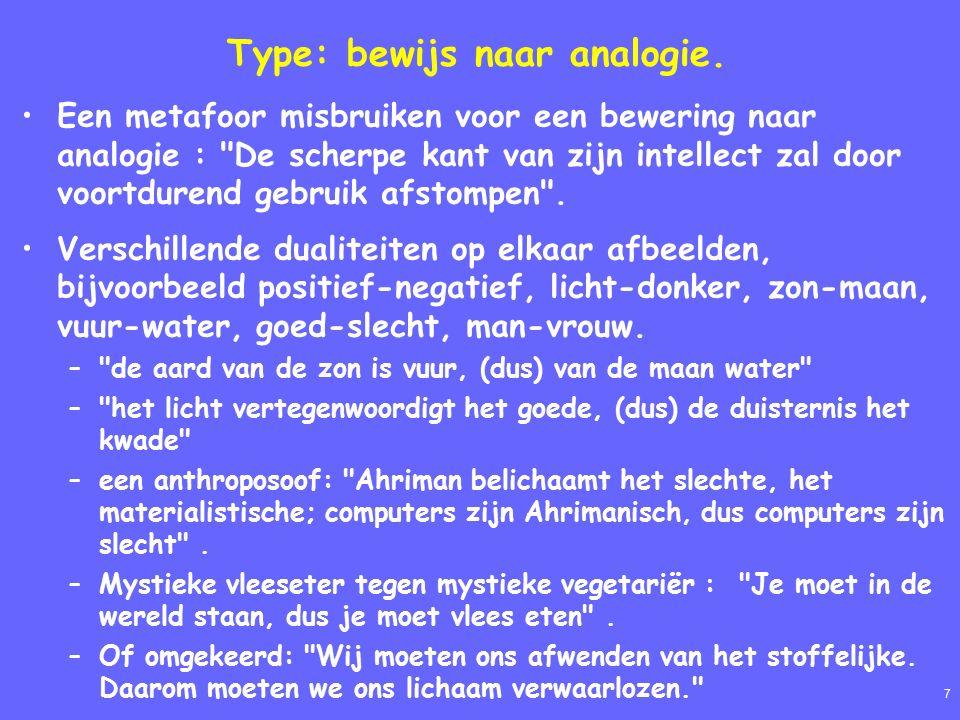 8 Type: de dubbelzinnigheid (Equivocatio) d.w.z.