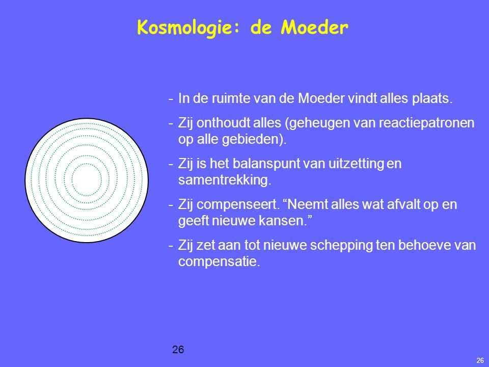 26 Kosmologie: de Moeder -In de ruimte van de Moeder vindt alles plaats.