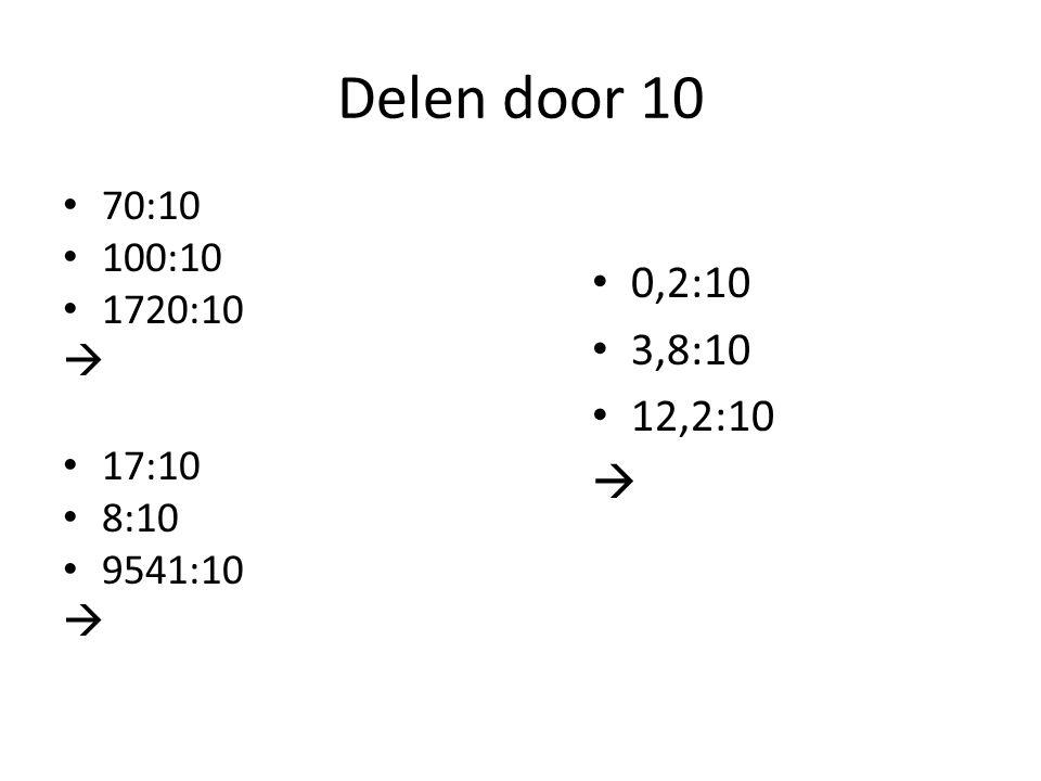 Delen door 10 70:10 100:10 1720:10  17:10 8:10 9541:10  0,2:10 3,8:10 12,2:10 