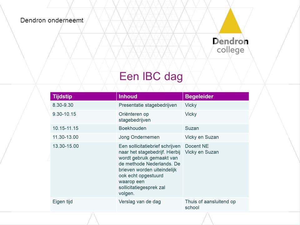 Een IBC dag Dendron onderneemt