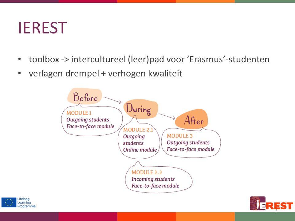 IEREST toolbox -> intercultureel (leer)pad voor 'Erasmus'-studenten verlagen drempel + verhogen kwaliteit 3