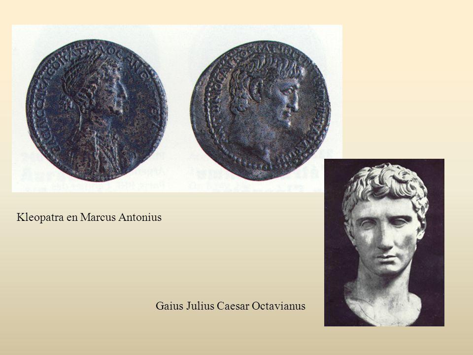 Kleopatra en Marcus Antonius Gaius Julius Caesar Octavianus