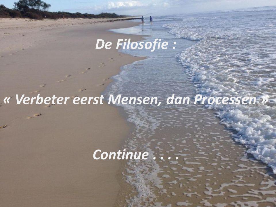 De Filosofie : « Verbeter eerst Mensen, dan Processen » Continue....
