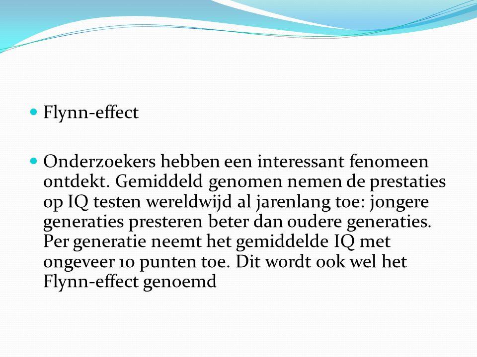 Flynn-effect Onderzoekers hebben een interessant fenomeen ontdekt.