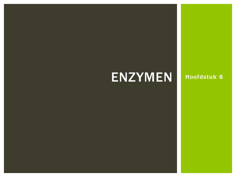  Opbouw en werking mechanisme. Invloeden op de enzymactiviteit.
