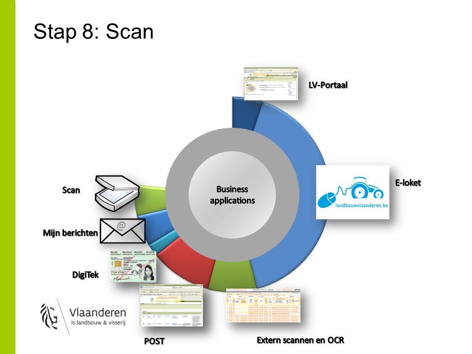 Stap 9: Hoe gedigitaliseerde documenten verwerken… Werkstroom om taken te verdelen tussen medewerkers –Geen papier  geen fysieke visuele aanduiding van een taak, geen post-it, … –Kan worden toegewezen aan team of individuele medewerker –Gecentraliseerd, herbruikbaar over toepassingen Noodzaak… het werk moest gebeuren, ook nadat het document gedigitaliseerd was Opportuniteit –Werkopvolging, - prognose, -evaluatie, … (PTOW) –Procesoptimalisatie