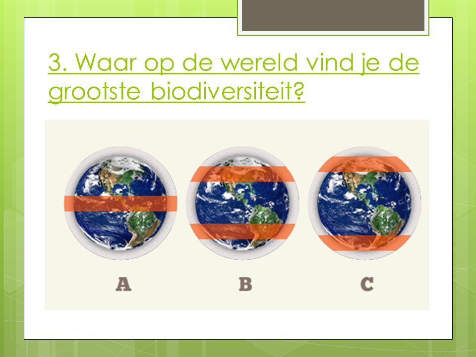 3. Waar op de wereld vind je de grootste biodiversiteit