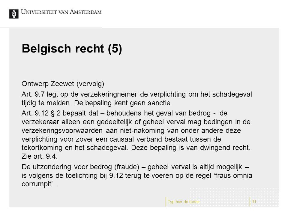 Belgisch recht (5) Ontwerp Zeewet (vervolg) Art.