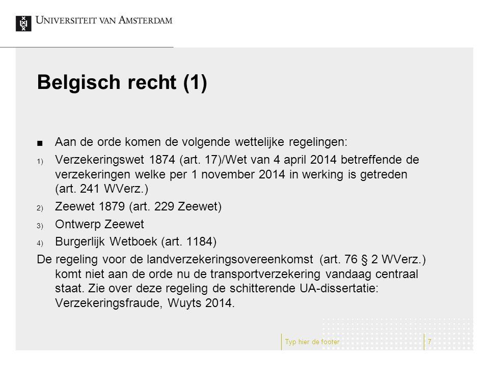 Belgisch recht (2) Art.241 WVerz. (Art.