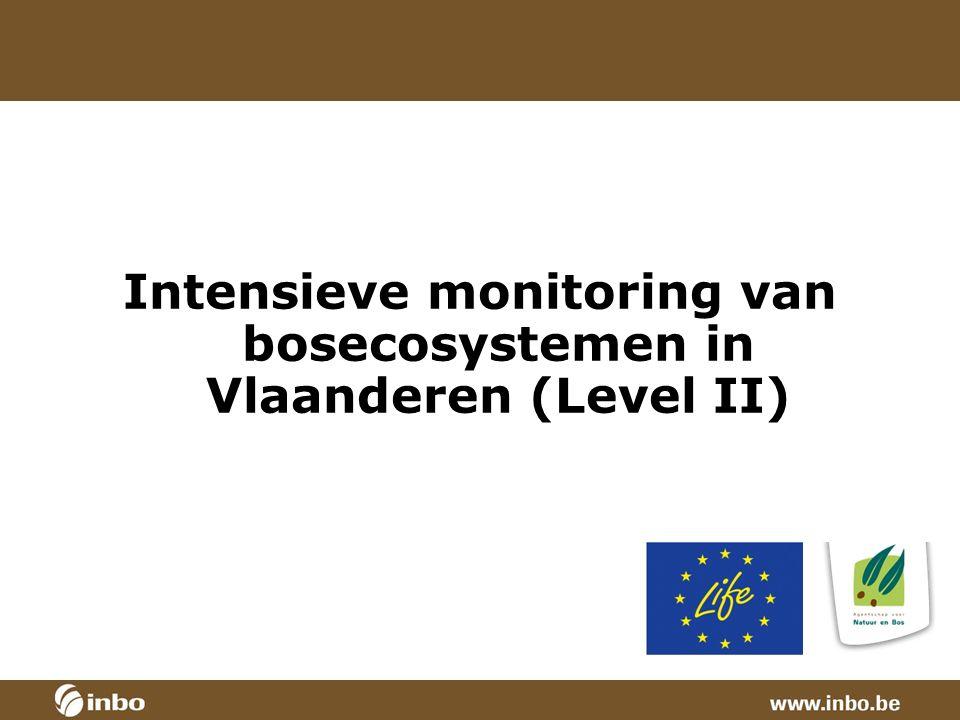 Intensieve monitoring van bosecosystemen in Vlaanderen (Level II)