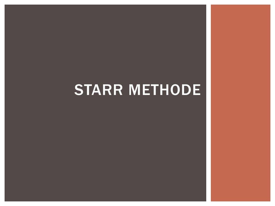 STARR METHODE