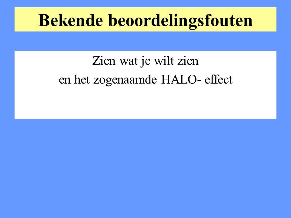 Bekende beoordelingsfouten Zien wat je wilt zien en het zogenaamde HALO- effect