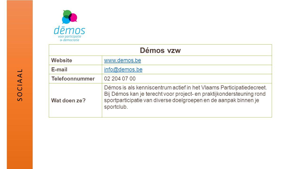 Démos vzw Websitewww.demos.be E-mailinfo@demos.be Telefoonnummer02 204 07 00 Wat doen ze? Démos is als kenniscentrum actief in het Vlaams Participatie