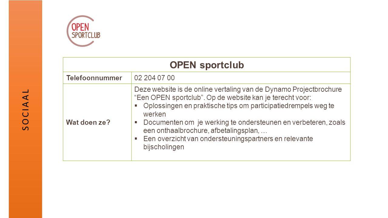 OPEN sportclub Telefoonnummer02 204 07 00 Wat doen ze.