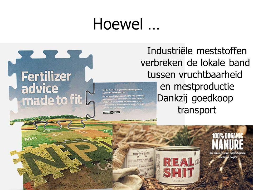 Land Hoewel … Industriële meststoffen verbreken de lokale band tussen vruchtbaarheid en mestproductie Dankzij goedkoop transport