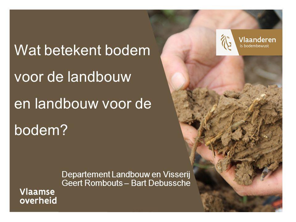 Wat betekent bodem voor de landbouw en landbouw voor de bodem.
