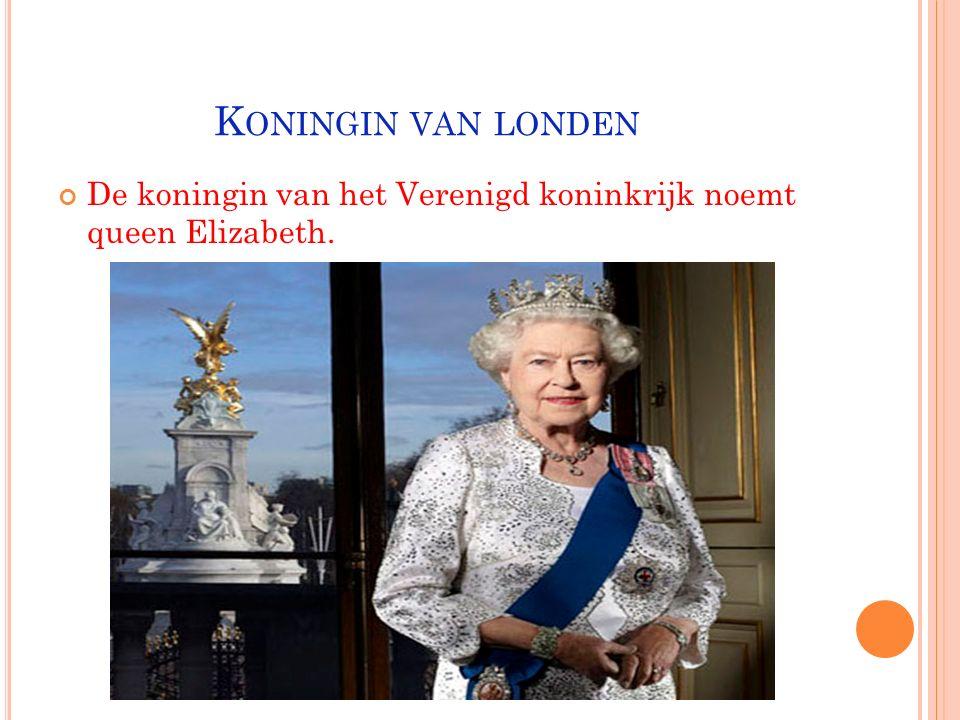 HOOFDSTAD: LONDEN -Londen is de hoofdstad van het Verenigd koninkrijk
