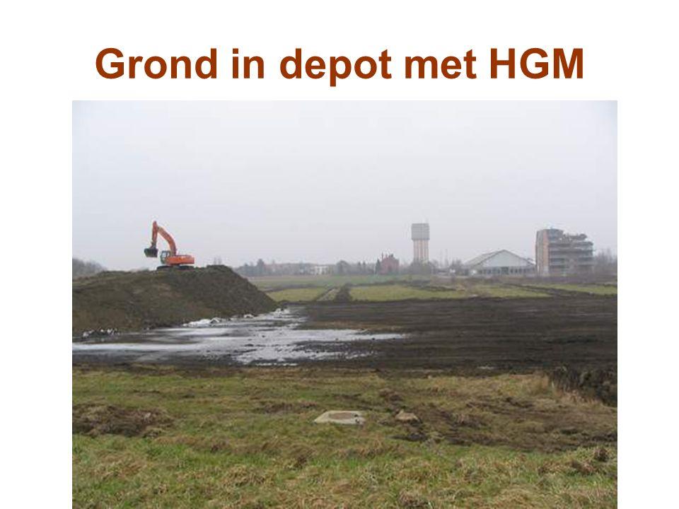 Grond in depot met HGM