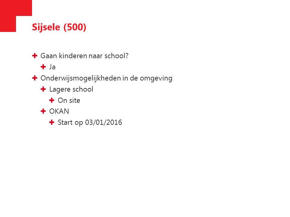 Sijsele (500) ✚ Gaan kinderen naar school.