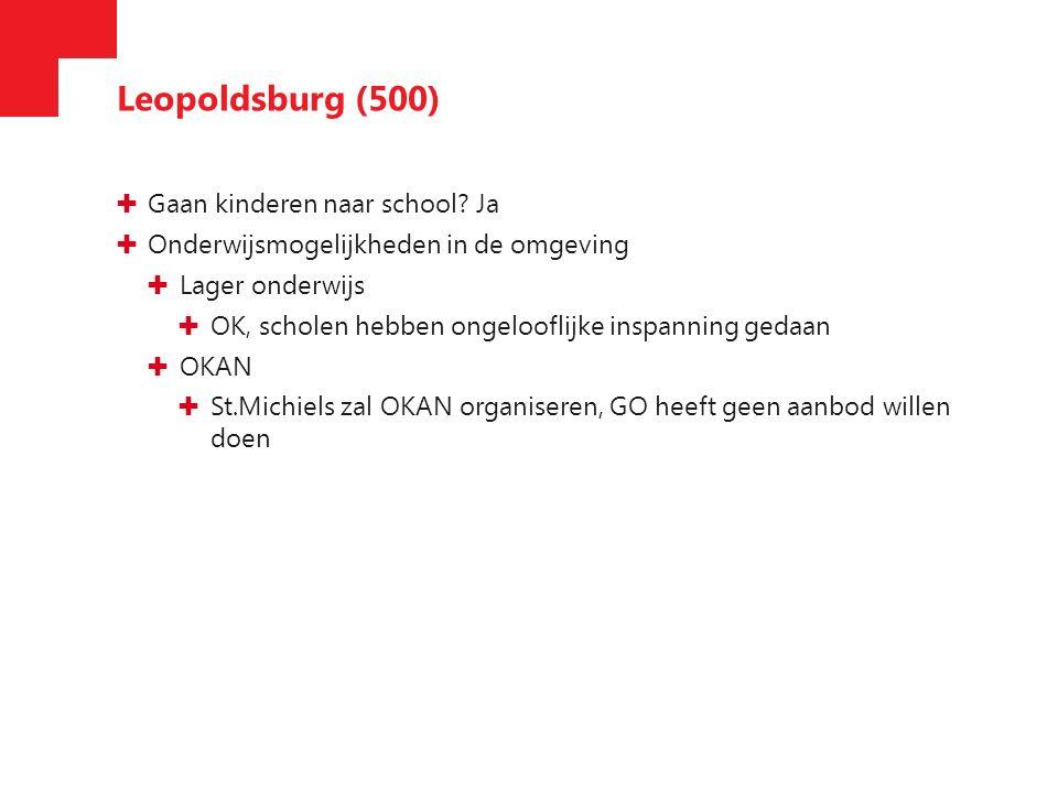 Leopoldsburg (500) ✚ Gaan kinderen naar school.