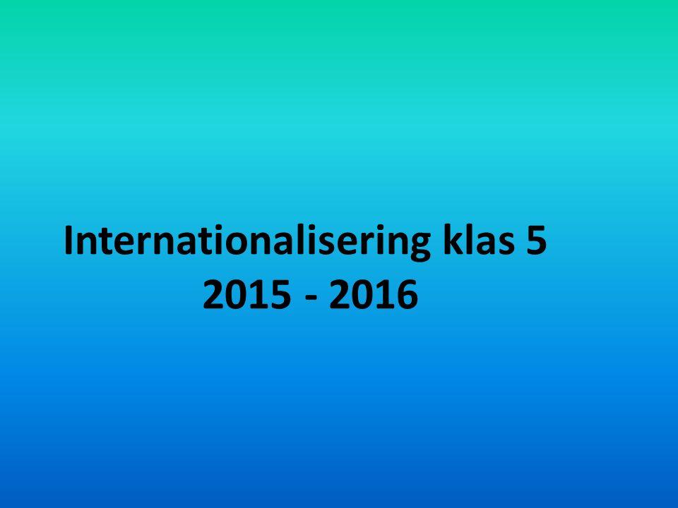 Internationalisering klas 5 2015 - 2016