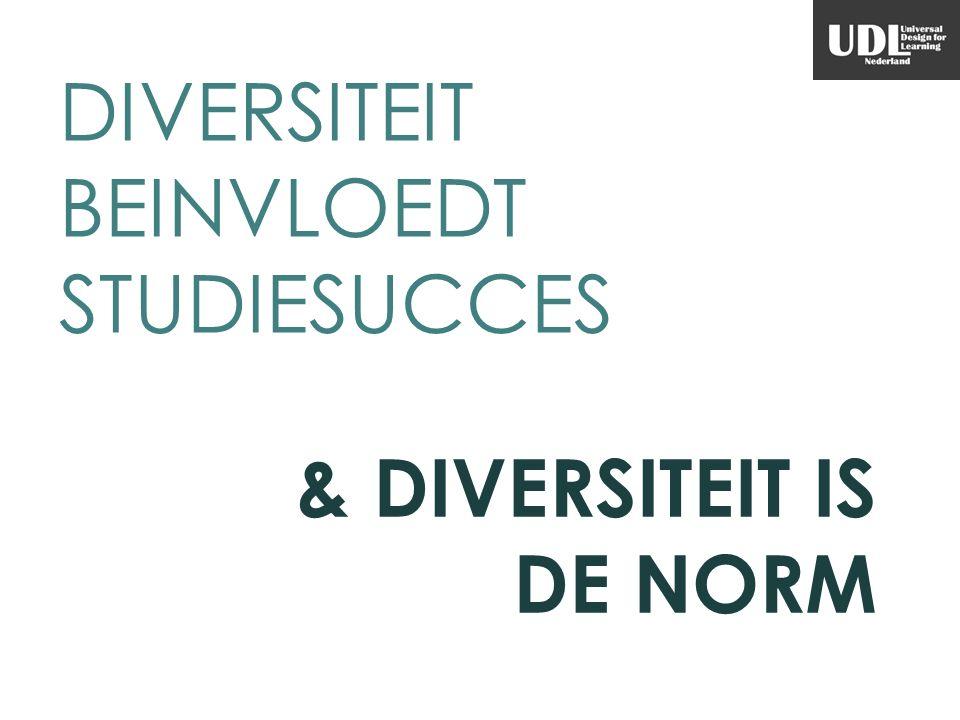 DIVERSITEIT BEINVLOEDT STUDIESUCCES & DIVERSITEIT IS DE NORM