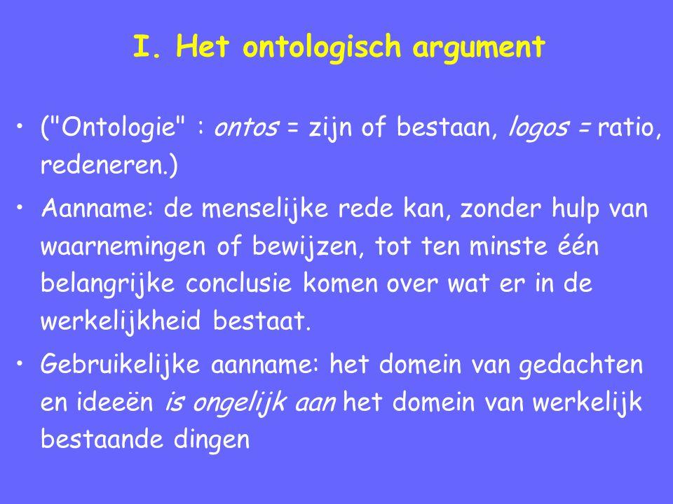 I. Het ontologisch argument (