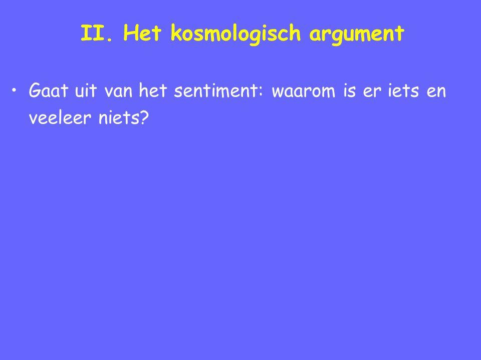 II.Een modern kosmologisch argument 1.
