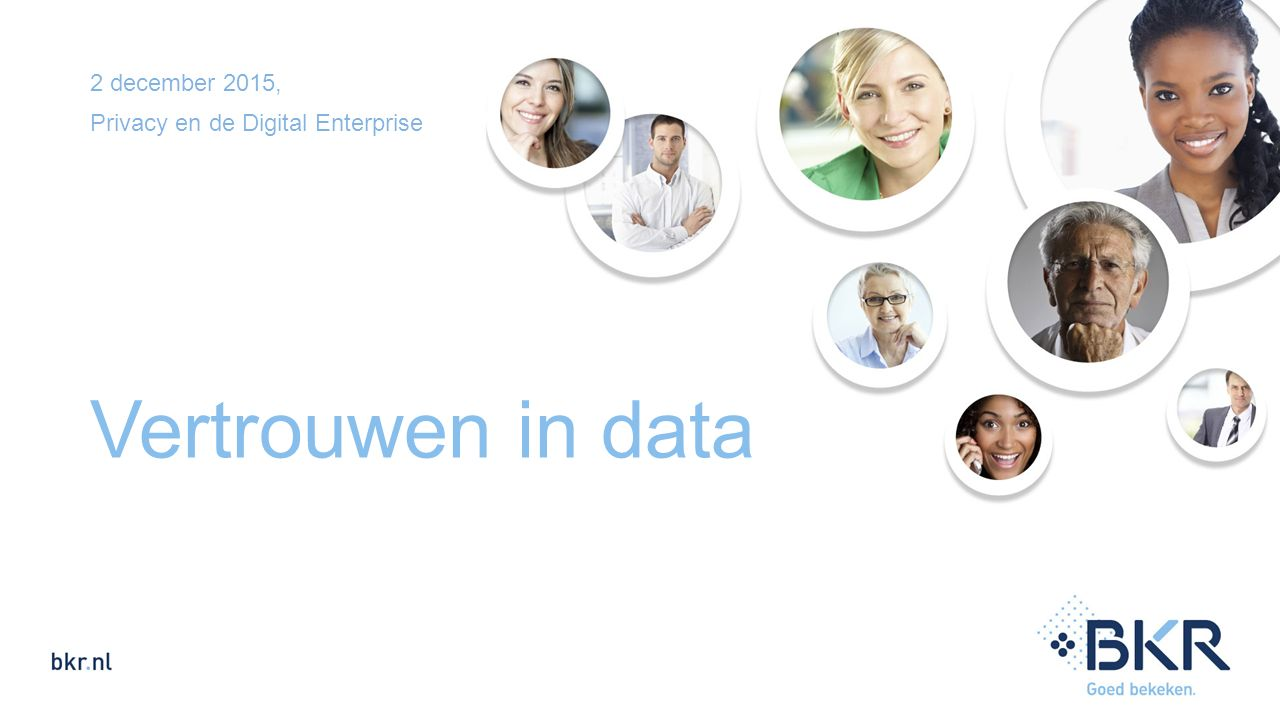2 december 2015, Privacy en de Digital Enterprise Vertrouwen in data