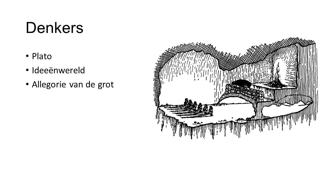 Denkers Plato Ideeënwereld Allegorie van de grot