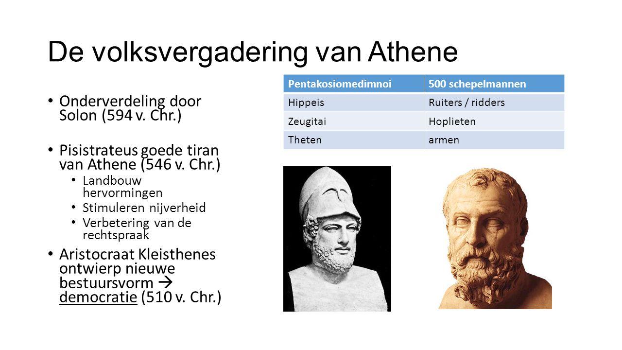 De volksvergadering van Athene Onderverdeling door Solon (594 v.