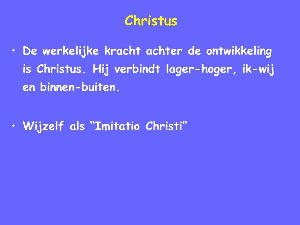 Christus De werkelijke kracht achter de ontwikkeling is Christus.
