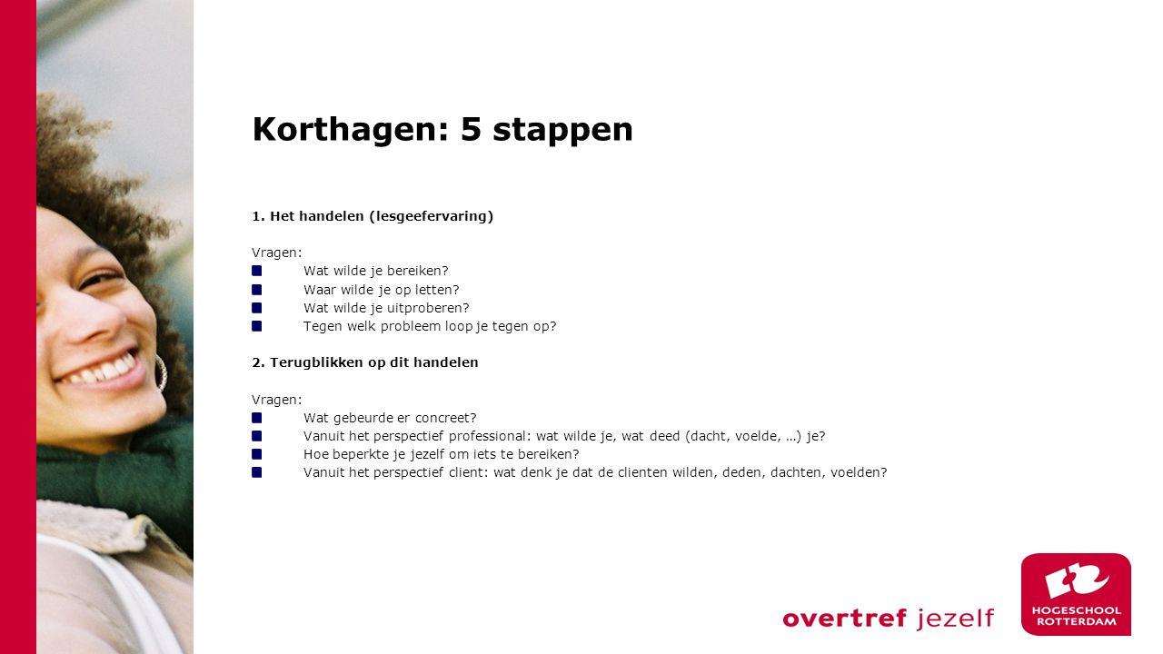 Korthagen: 5 stappen 3.