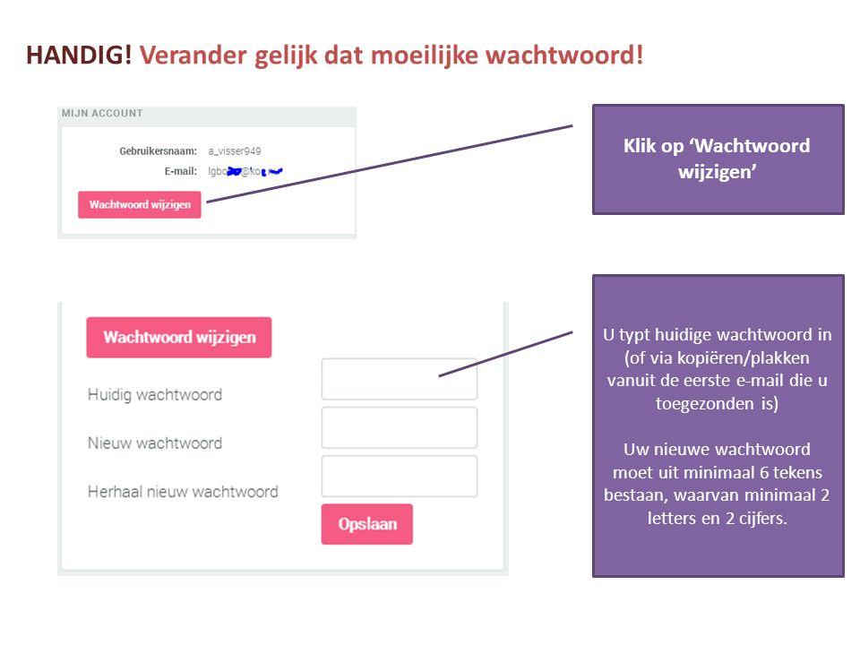 wachtwoord veranderen email