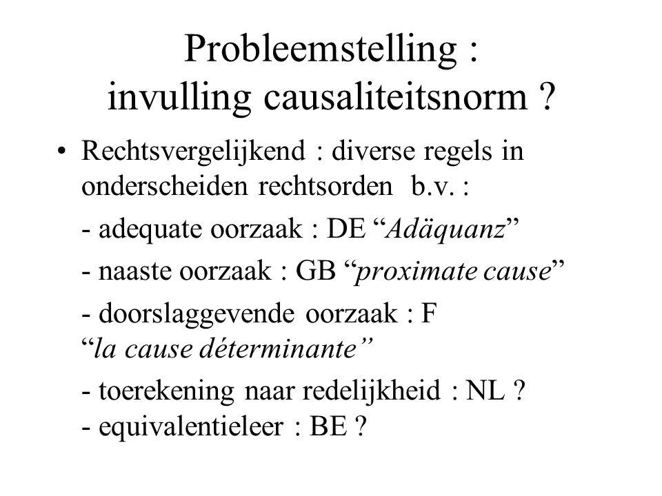 Invulling causaliteitsnorm Invulling naar Belgisch transportverzekeringsrecht .