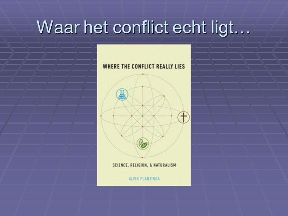 Waar het conflict echt ligt…