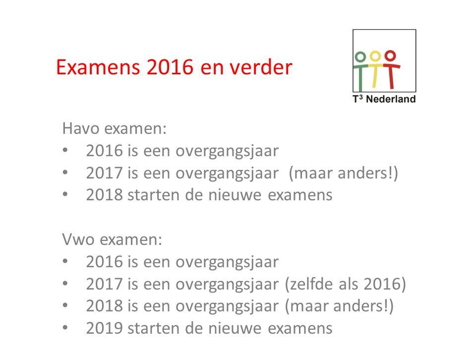 Examens 2016 havo vwo Welke rekenmachines.