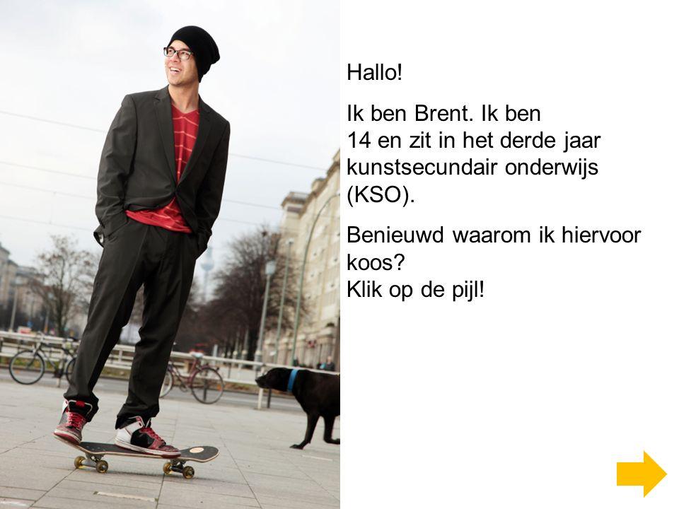 Hallo.Ik ben Brent. Ik ben 14 en zit in het derde jaar kunstsecundair onderwijs (KSO).