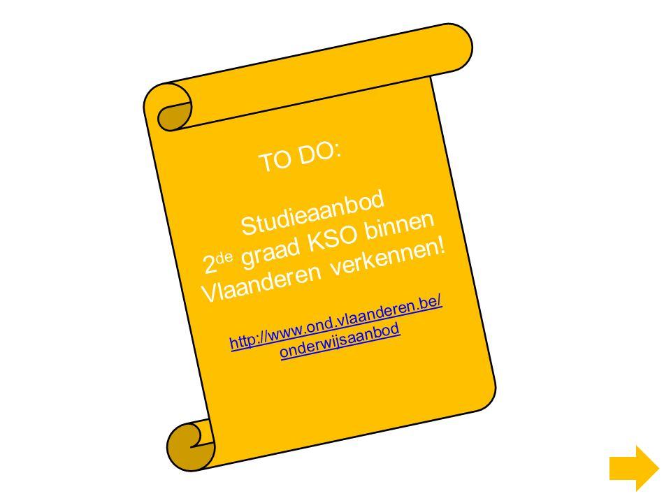TO DO: Studieaanbod 2 de graad KSO binnen Vlaanderen verkennen.