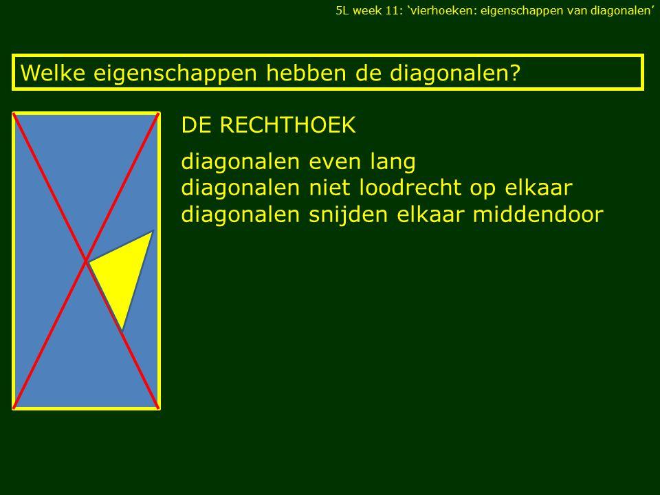 Welke eigenschappen hebben de diagonalen.