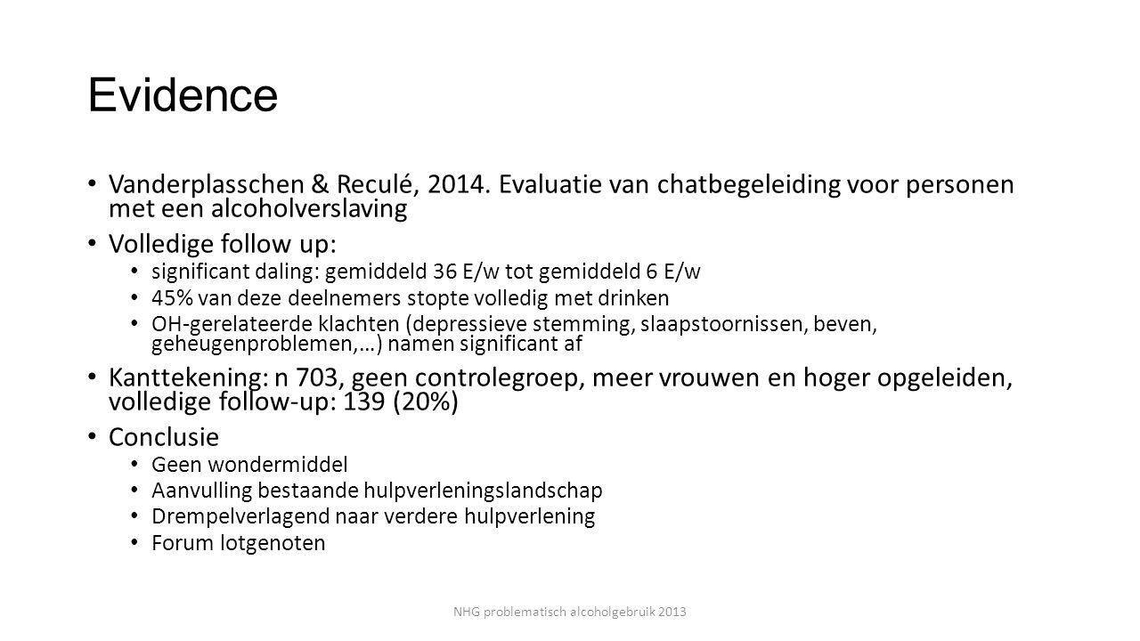 Evidence Vanderplasschen & Reculé, 2014.