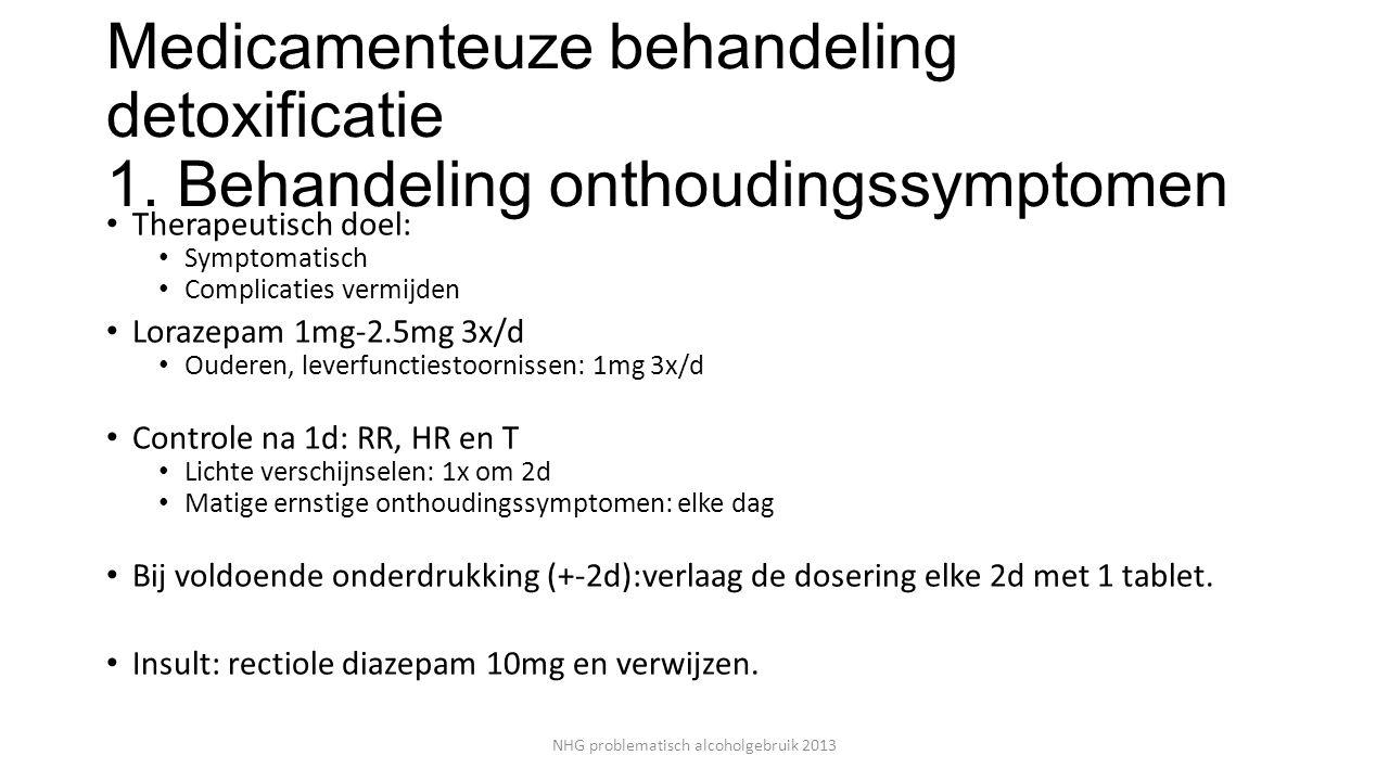 Medicamenteuze behandeling detoxificatie 1.