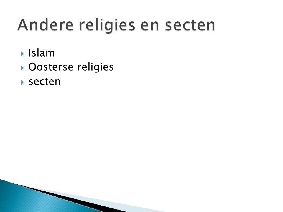  Islam  Oosterse religies  secten