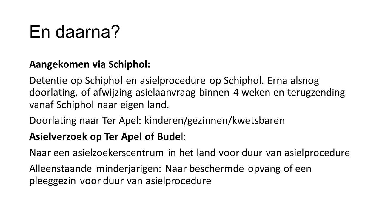 En daarna.Aangekomen via Schiphol: Detentie op Schiphol en asielprocedure op Schiphol.