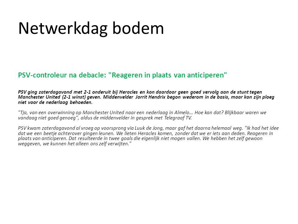 Netwerkdag bodem PSV-controleur na debacle: